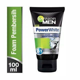 KONDISI BARU!! Garnier Men Power White Shaving & Cleansing Brightening Foam - 100ml