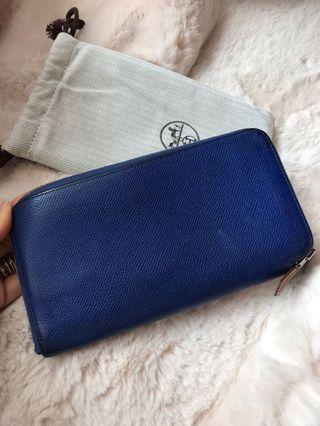 Hermes Azap Blue Wallet