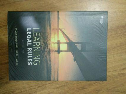 Learning Legal Rules - James Holland (9th edition)