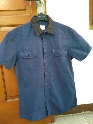 24:01 ZALORA Navy Shirt