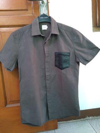 24:01 ZALORA Green Army Shirt