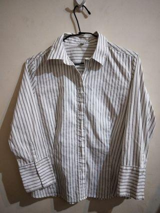 <bossiniladies>白底黑線條襯衫