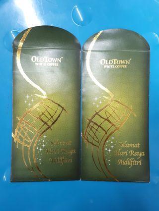 Angpao packet sampul duit raya Oldtown white coffee