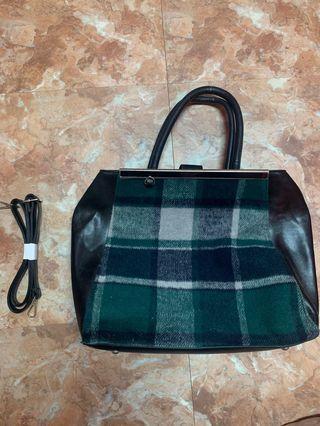 時尚格子手提包