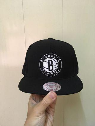 M&N mitchell & ness Brooklyn Nets snapback布魯克林籃網 NBA 後扣帽 棒球帽