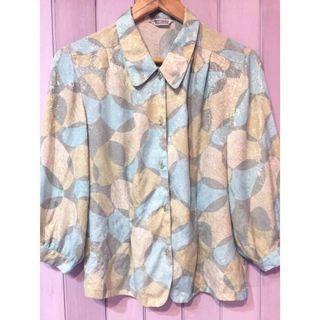 降價❗️日本古著🇯🇵薄荷色系七分袖襯衫
