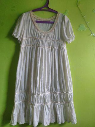 Dress Putih gading ademmmmm bgt XL