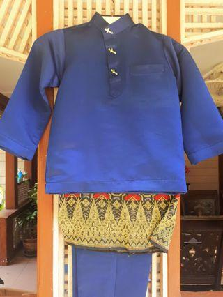 Slim Fit Baju Melayu For Kids (Full Set)