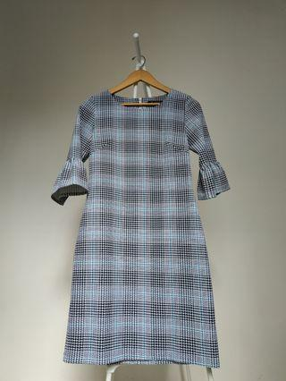WHITEMODE checkered dress