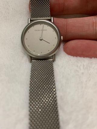 Georg  Jensen  網狀,不鏽鋼錶