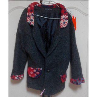 日式毛毛大衣
