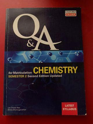 Chemistry for Matriculation Sem 2 Second Edition