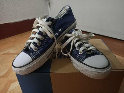 ✨九成新✨蔚藍帆布鞋