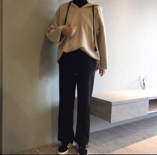 韓國高腰寬鬆闊腿長褲