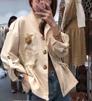 Rami jacket nude
