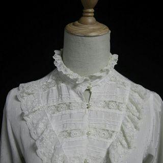 陶瓷娃娃宮廷復古古著襯衫