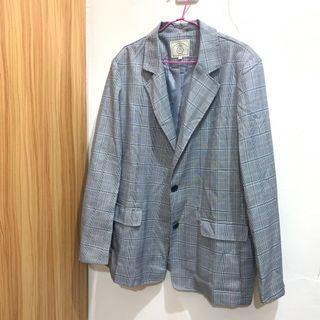 Queen shop格紋西裝外套