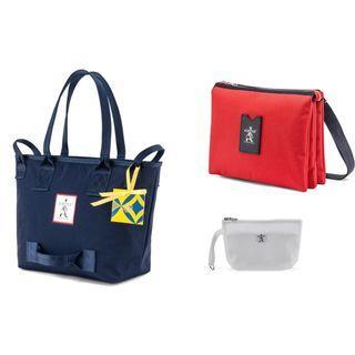 全新 PORTER 托特包(藍)+斜肩包(紅) 組合 雙十一特價