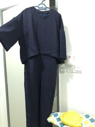Seed romper navy blue new with tag