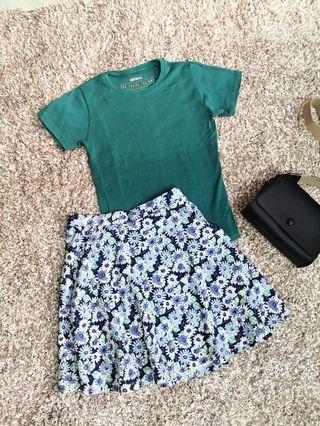 Cotton On tee & Padini Skirt set