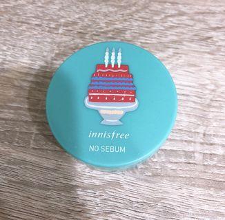 innisfree明星商品生日限定款 持妝控油蜜粉