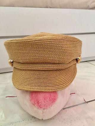 正韓 藤編報童帽