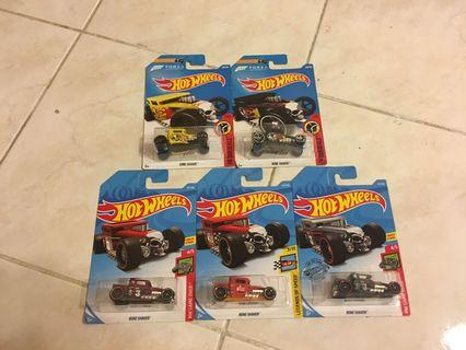 Hot Wheels Lot of 5 - Bone Shaker