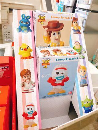 日本版 迪士尼好朋友們 玩具總動員4 叉奇 軟膠