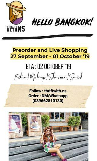 LIVE SHOPPING BANGKOK! 27 Sept-01 Oct