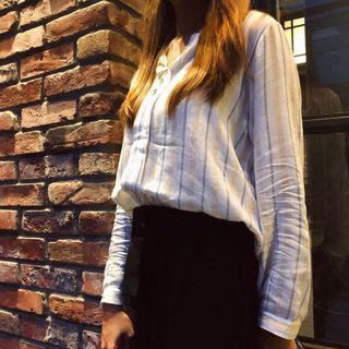 The Stripes Blouse & The Classic Palazzo