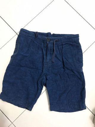 H&M blue denim shorts pant