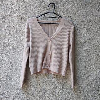 Nude Knit Cardigan (Korean Style)