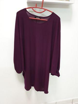 Purple batwing top