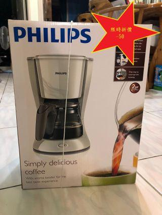 現折50,飛利浦 PHILIPS Daily滴漏式咖啡機1.2L(HD7447)