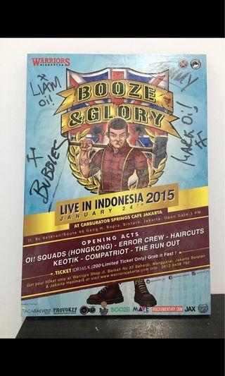 Poster Booze and Glory + Tanda Tangan Ori