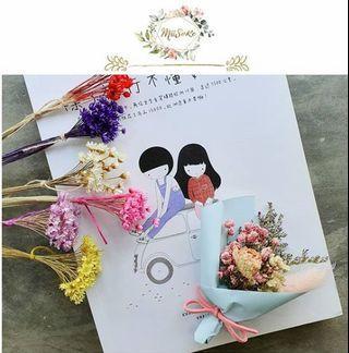 Blueish Theme Mini Flower Bouquet • 蓝色系迷你花束