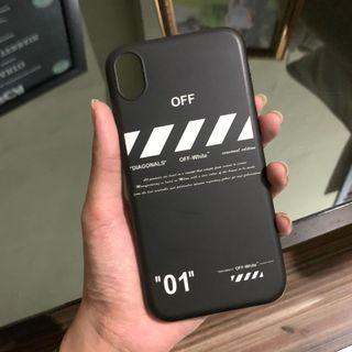 Off-white case iphone XR Softcase