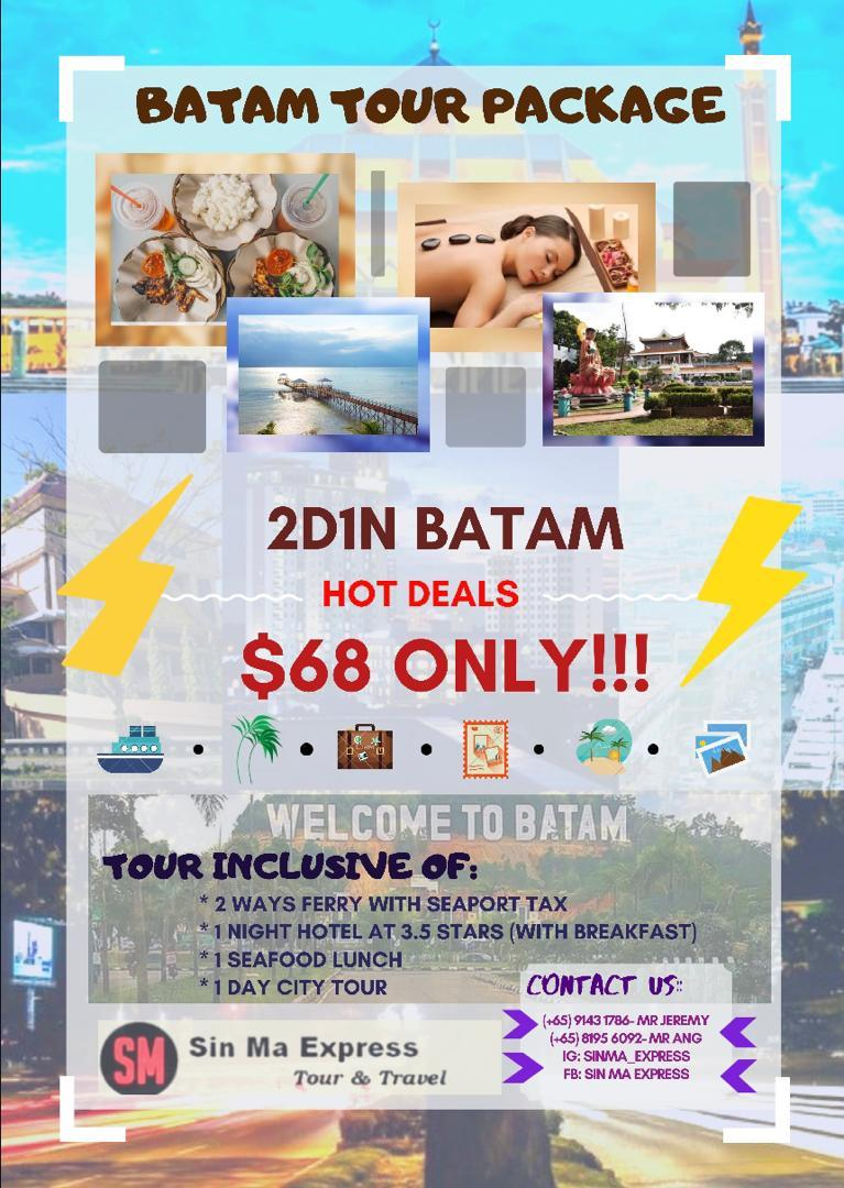 2D1N in Batam for just $68!
