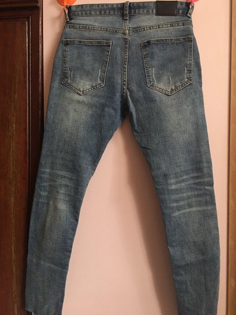韓國9 分直腳牛仔褲