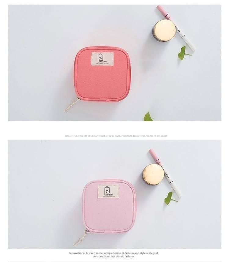 糖果色方形收納包