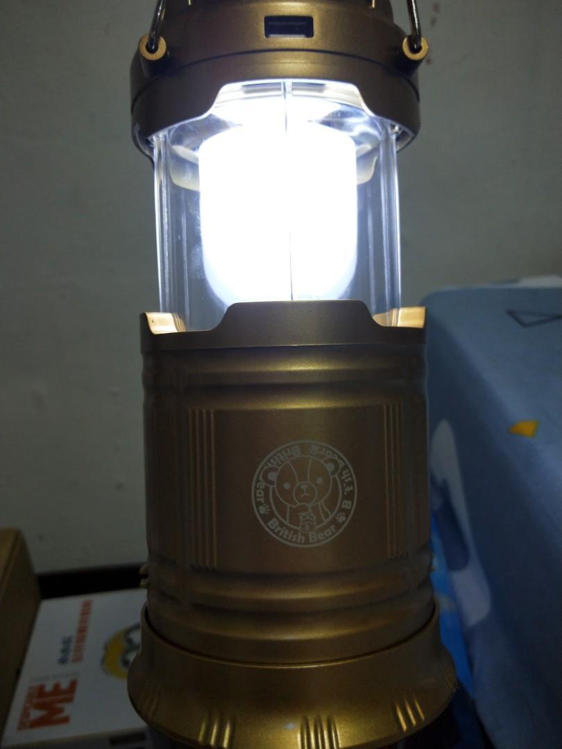 太陽能及充電式兩用露營燈