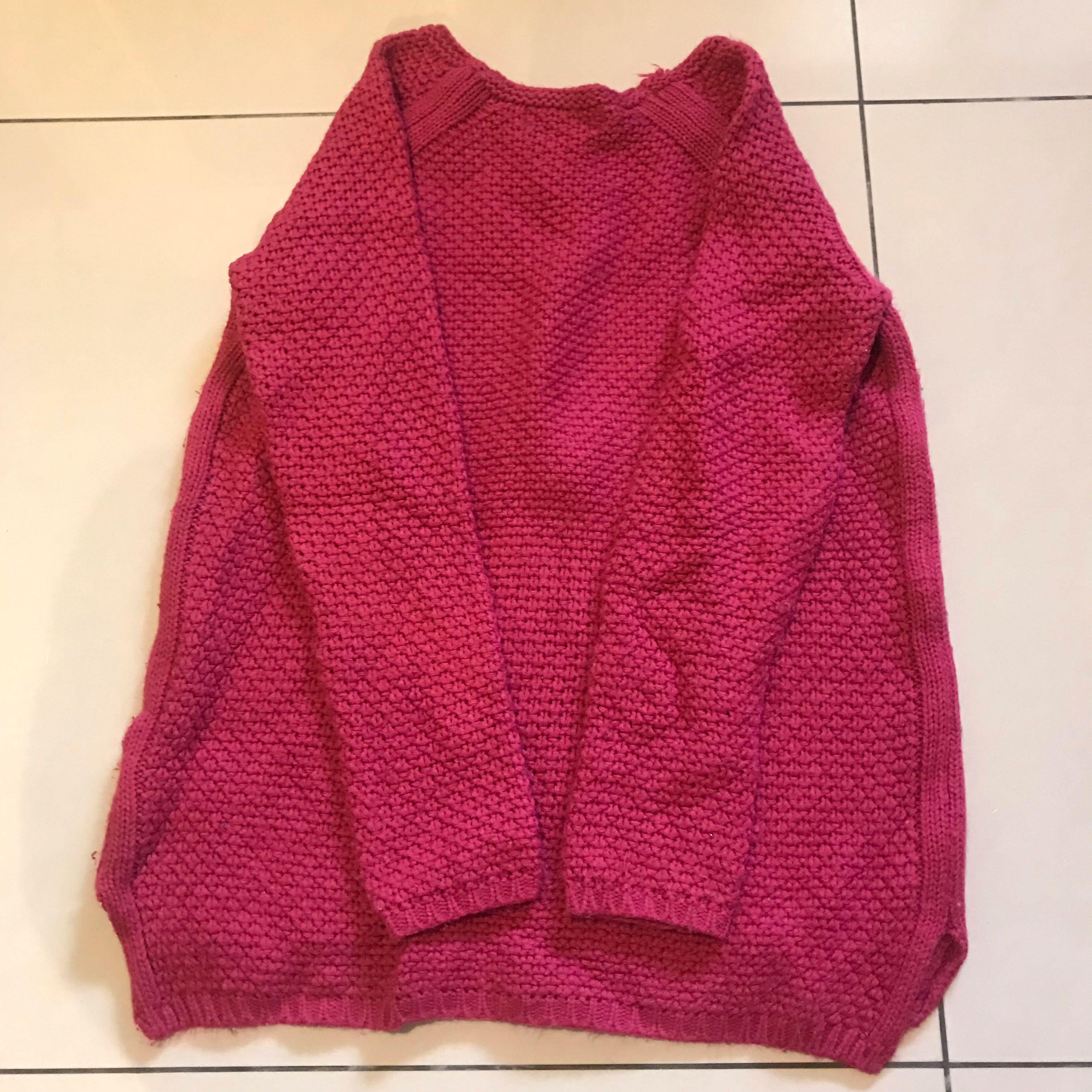桃紅色針織上衣💕💕