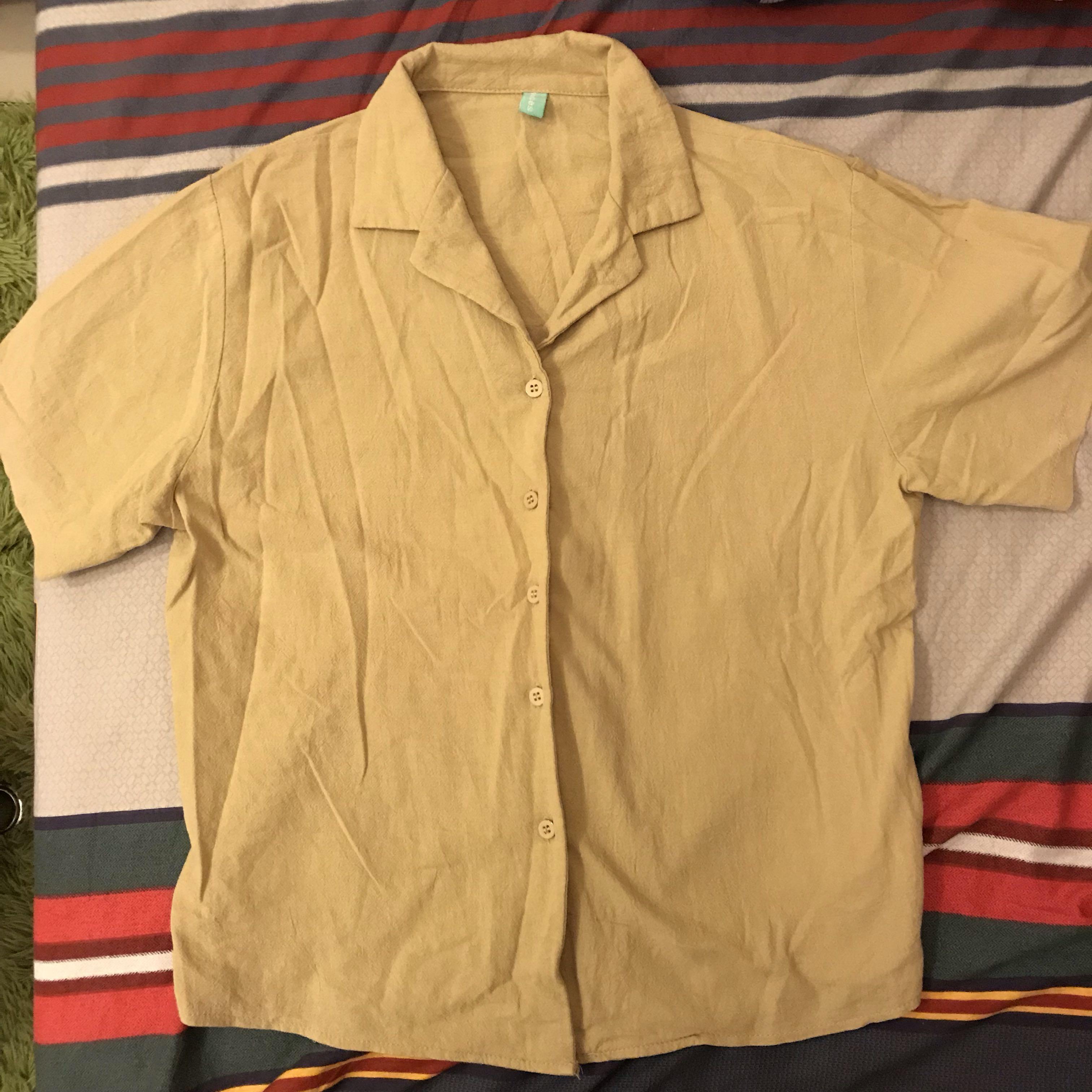 韓系短袖襯衫