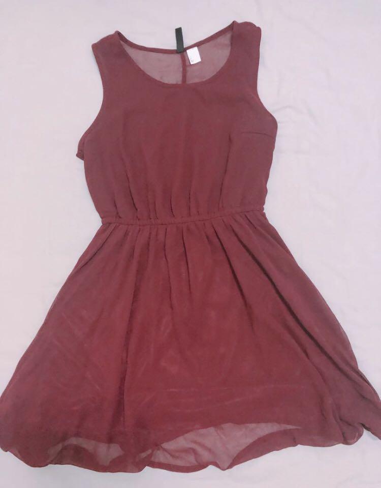 全新 酒紅洋裝
