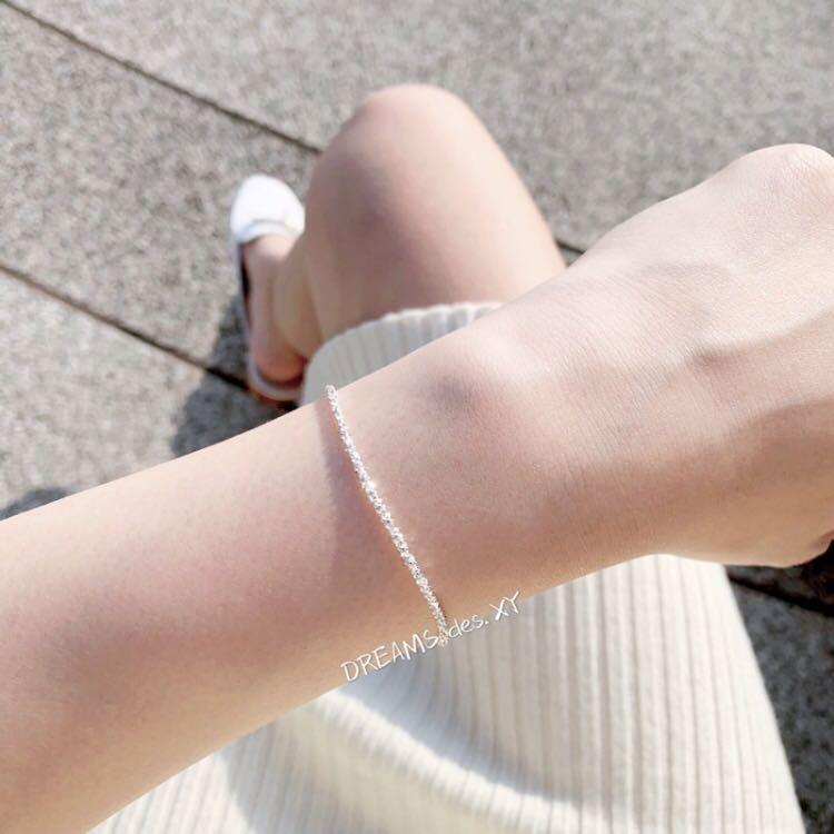 香港代購🇭🇰 正生 滿天星碎鑽 925 純銀手鍊