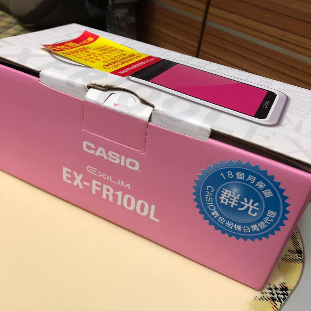 換物優先/使用過一次/無傷無摔 casio EX-FR100L 粉紅色