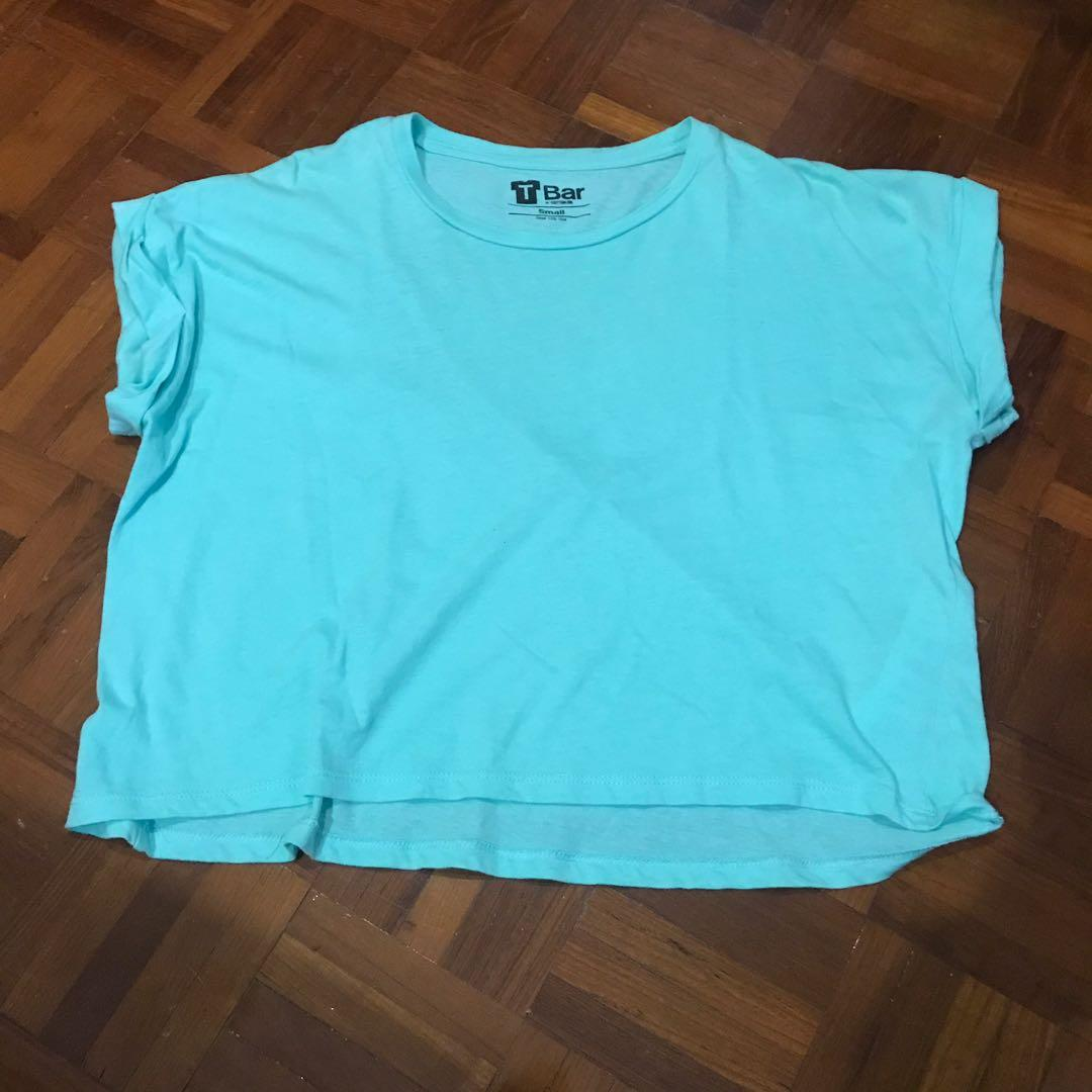 🔥 Cotton On Mint Green Crop Top