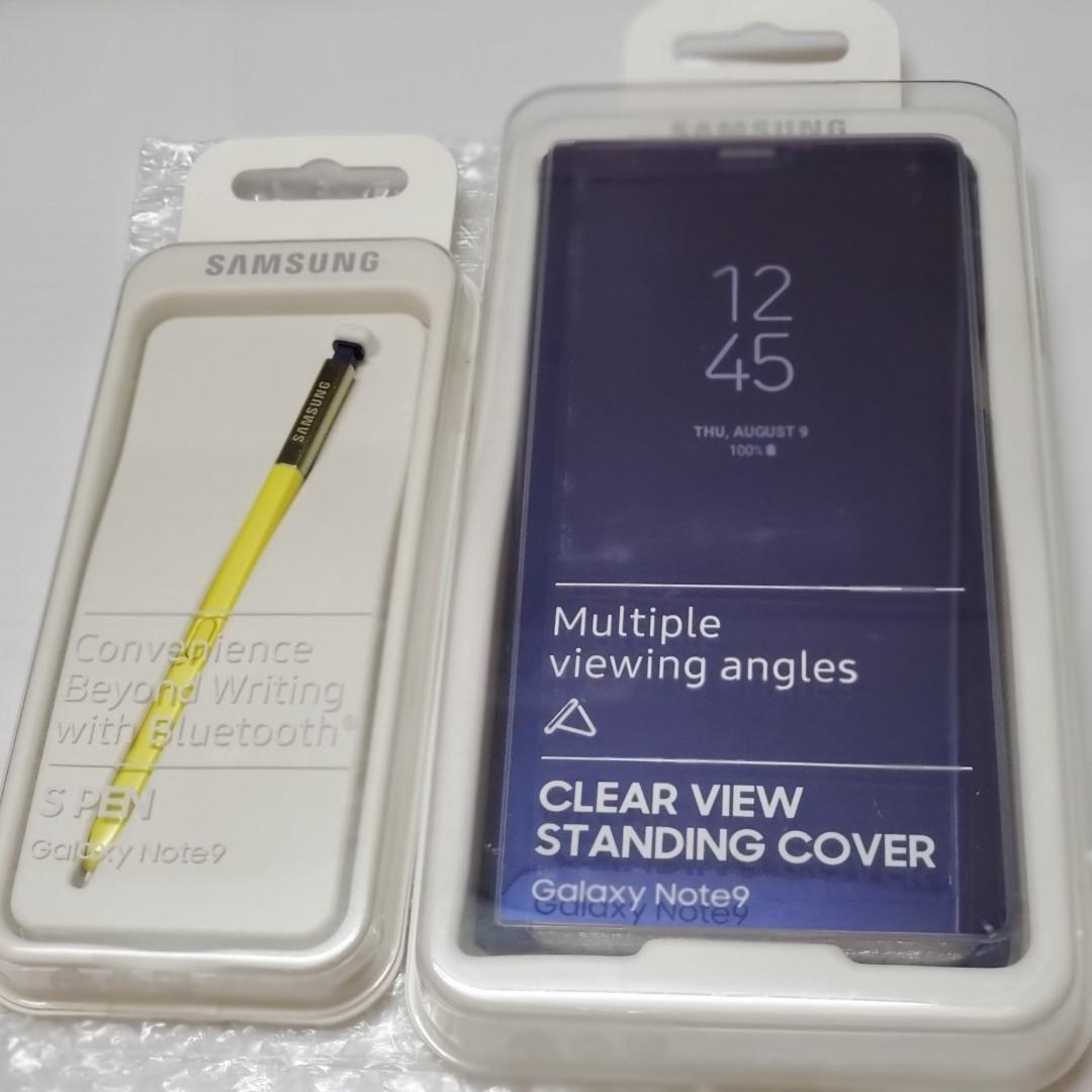 原裝 GALAXY NOTE9 CLEAR VIEW STANDING CASE COVER 保護套+ SPen