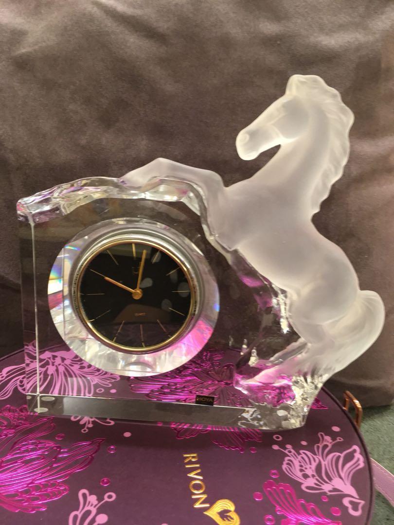 ♥️全新  日本HO YA水晶品牌 飛馬時鐘