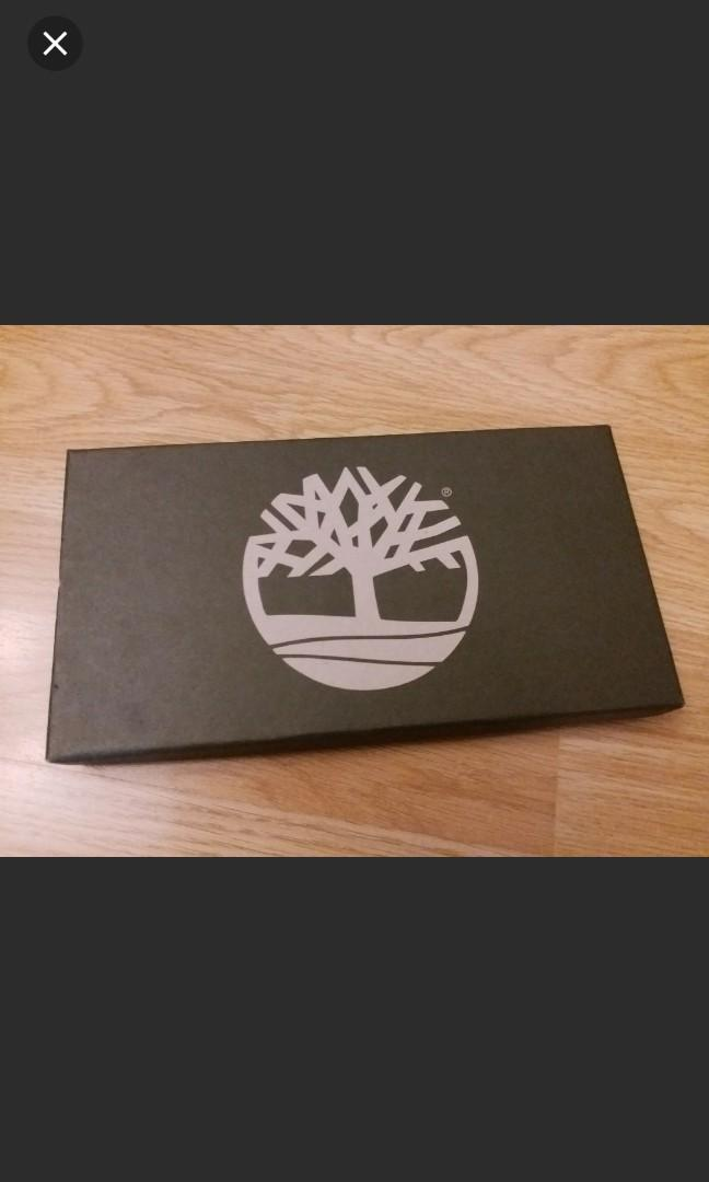 全新正版 Timberland 套裝 銀包 鎖匙扣 2件 禮盒